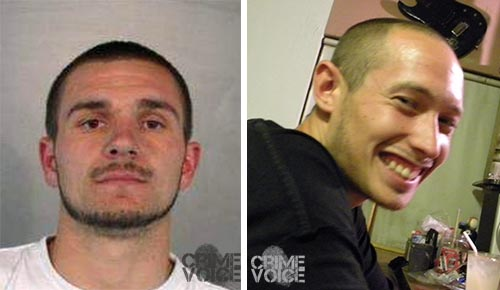 Evan Anderson and Tony Lorenzana, partners in crime in February. (Booking photo and Facebook image)