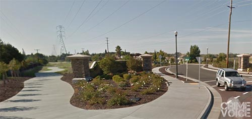 The stalker was also seen in this area at Diamond Oaks.