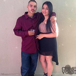 """Villegas from his Facebook page, with who he identified as """"My girl"""" - likely  Amanda Gonzalez"""