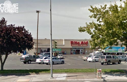 The incident began at the Rite Aid on Del Paso.
