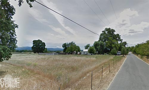 Henderson Lane in Covelo, near where the original call came, and where Hoaglen was eventually arrested.