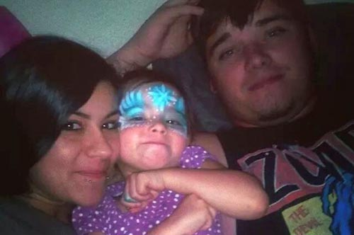 Image of Kaylee Leavitt and Steven Lucas from the gofundme site set up on her behalf.