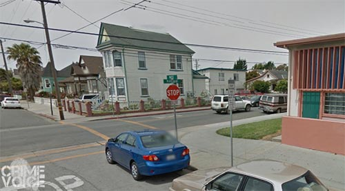 The corner of Marchant and Maple, where the shooting occurred.