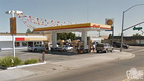 Reyes is accused of robbing this Shell Station at gunpoint on Thanksgiving day.