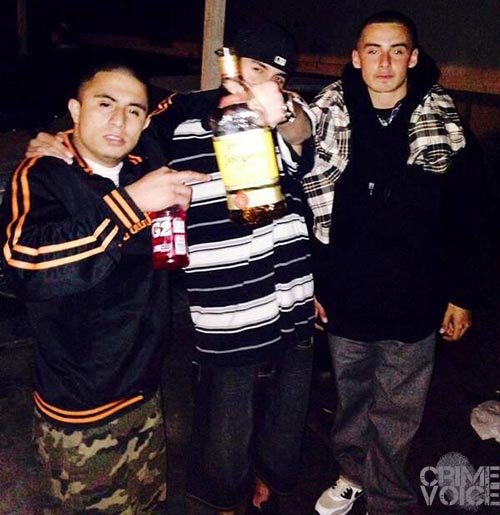 An image from Everet Copado's Facebook page, possibly showing him (center) with Nathaniel and Bryan Garza.