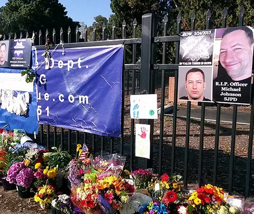 San Jose remembers Officer Michael Johnson. Photo: Amy Nilson.