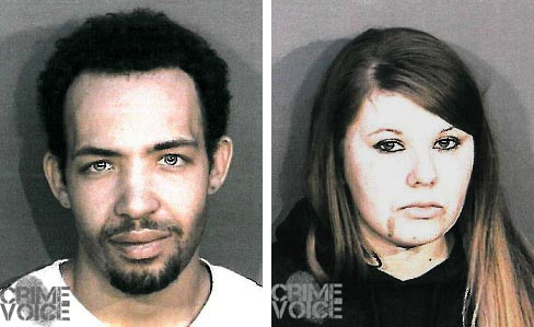 Cameron Ferguson and Julia Ryan booking photos