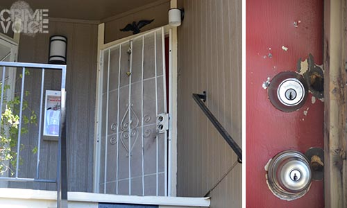 Duhman's front door was forced open so officers could gain entry.