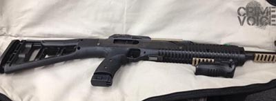 The assault rifle Ewing was caught with.