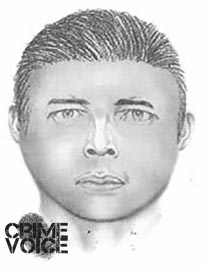 "Sketch of other robbery suspect, 5'6"". heavy-set"