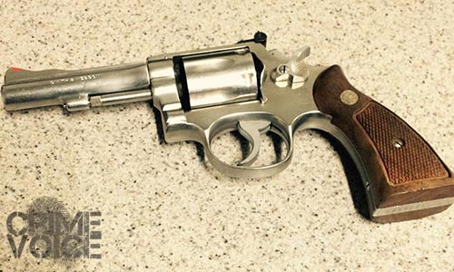 This revolver was collected as evidence of the shooting.