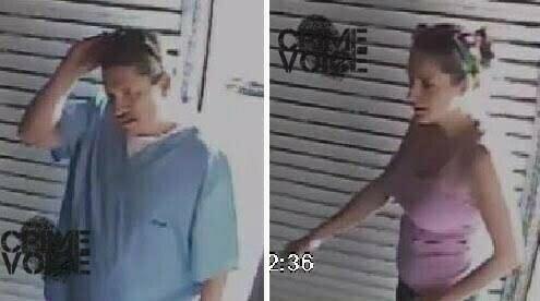 The suspects caught on surveillance video