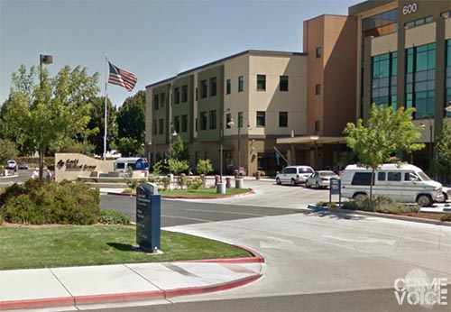 The Sutter Gould Medical Center parking lot, where the stabbing occurred.