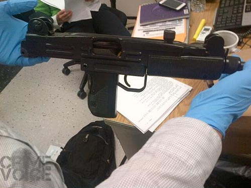 The Uzi weapon that was taken from Fajardo.