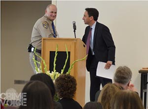 D.A. Jeff Rosen and CHP Captain Les Bishop