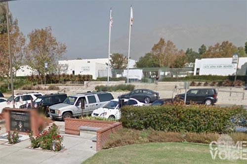 An arrest was made at Alta Loma High School