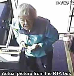 Surveillance image from April 8 of Toepfer boarding a bus.