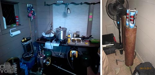 Detectives found a full hash oil manufacturing lab in the home.