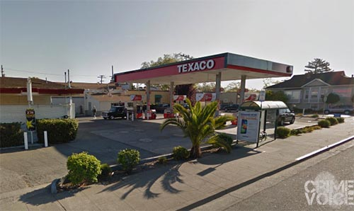 Two men assaulted and robbed the clerk at this Texaco.