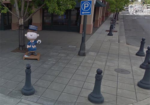 Protected by a group of barriers, Charlie Brown the Conductor was not harmed in the crash.