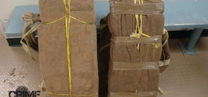 Border Patrol Bags Two Bundles of Pot