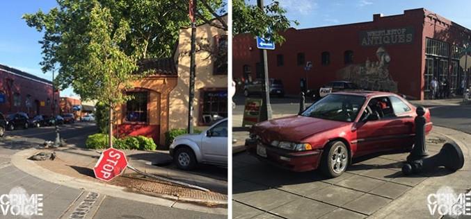Broken brake light on a stolen car leads to arrest of wanted felon
