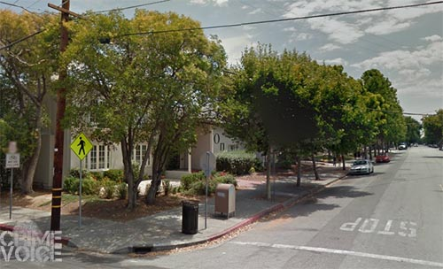 The shooting occurred in this area near a San Jose State Sorority House.