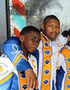 Shellmyer in a Crenshaw High Marching Band photo