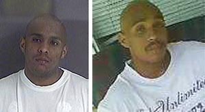 Images posted in Baxter's Facebook page include a past mugshot (left).