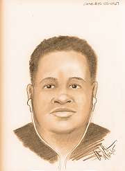 Police released this sketch of the suspect based on the victim's description.