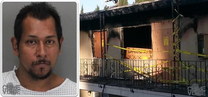 Out of control suspect arrested after burning down father's apartment
