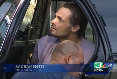 KCRA News captured Alamar Houston as he was arrested in downtown Sacramento.