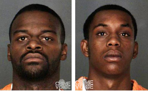 Maurice Kelly and Darron Daniels booking photos.