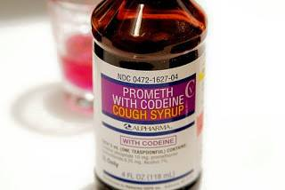 The pair were after a lot of this cough syrup.