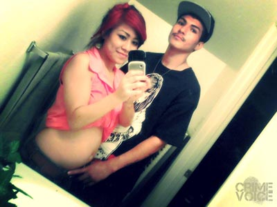 Mychell and Orlando in a Facebook selfie when she was pregnant with their daughter.