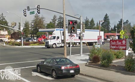 Two arrests were made at the corner of Santa Rosa and Colgan.
