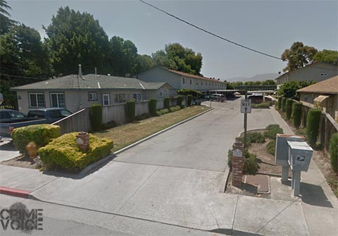 Police served a warrant at an apartment in this complex on South Street in Hollister.