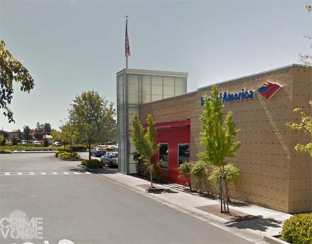 The Bank of America on North McDowell where the attempted robbery took place.