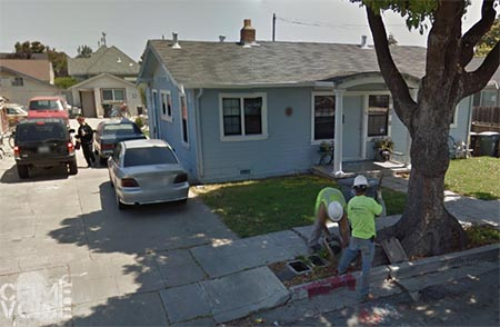 A suspect was followed to these houses, but slipped away before he was caught.
