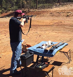 Cronk shows he is familiar with firearms in a Facebook photo