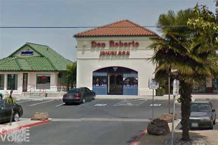 Don Roberto Jewelers on Alisal, the first of the two stores robbed.