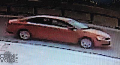 The suspect's car was also seen in video surveillance.