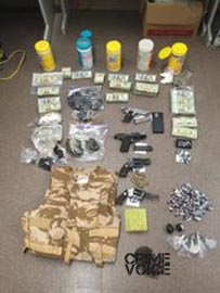 Police display Duran's confiscated stash