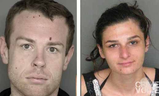 William Spaits and Tina Money in past booking photos provided by the Monterey County Sheriff's Department