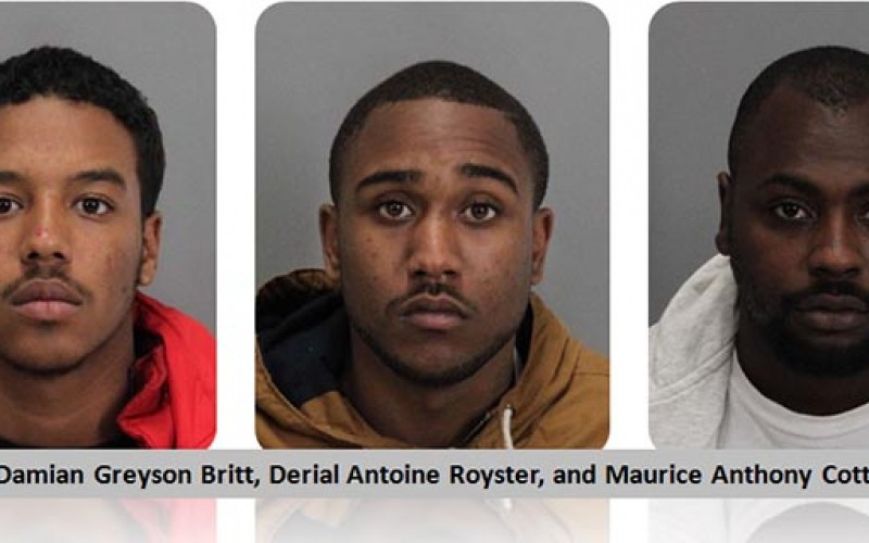 Milpitas Police report the arrest of three car burglary suspects