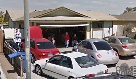 An image of a number of people hanging out at Chan's house in a 2012 Google Maps image.