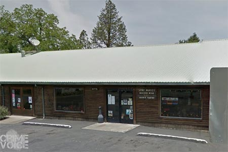 June Marie's Western Wear - one of the large windows in front was broken in the burglary.