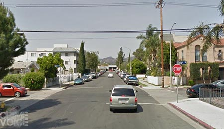 The brutal murder Alejo/Contreras is accused of happened near this corner in Hollywood 26 years ago.