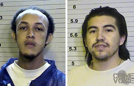 Past booking photos of Rico Ridgeway, who was arrested in the incident, and Roman P Gonzalez, who died in the shooting.