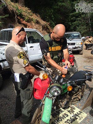 Sheriff's officials with the same bike seen in the photo above.